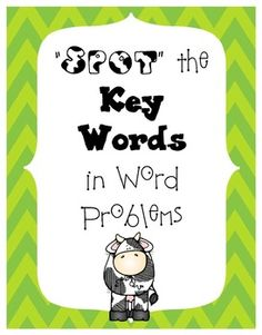 Spot the Key Words in Word Problems Posters FREEBIE