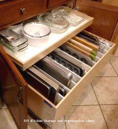 Insanely Sensible DIY Kitchen Storage Ideas #kitchenstorage #diykitchen Ikea Kitchen Pantry, Organizing Kitchen Cabinets, Kitchen Counter Storage, Order Kitchen, Kitchen Reno, Kitchen Pull Out Drawers, Kitchen Cupboards, Kitchen Hacks, Kitchen On A Budget