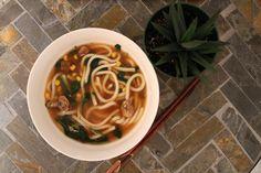 Quick noodle soup next to my favorite aloe Vera [2448x3263]