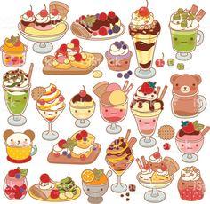 31 Best Cute Dessert Drawings Images Bite Size Desserts Cute