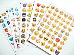 Emoji stickers Planner stickers  all iPhone by MiniEllies on Etsy