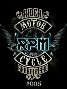 Design logos RPM Rider Probolinggo Motorcycle by kep