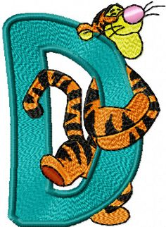 Tigger D Free embroidery Design - News - Free machine embroidery designs, patterns, jef, hus and pes designs, applique embroidery fonts. Weekly new embroidery projects, instant download Cartoon Machine Embroidery Designs