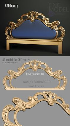 A1064  BED luxury  cnc-model.com 3D model for cnc router 3D furniture