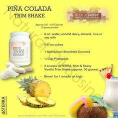 Pina Colada Shake! Using Trimshake by Slim & Sassy. slimandsassy.co.uk