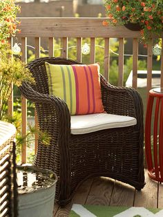 Maximize space on a small deck or patio by placing furniture around the perimeter: http://www.bhg.com/home-improvement/deck/ideas/small-deck-decorating/?socsrc=bhgpin040814arrangetosavespace&page=5