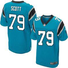 Nike Elite Chris Scott Blue Men's Jersey - Carolina Panthers #79 NFL Alternate