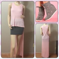 """❗️SALE❗️NWOT Beautiful Long Back Top Really cute high-lo top perfect with a skirt or shorts. 100% rayon, the back length from shoulder drop down is about 56"""" Bust: 15.5"""" stretches out to 20"""" Ambiance Apparel Tops"""