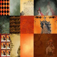 Scrapbooking TammyTags -- TT - Designer - With a Russian-Dutch Heart, TT - Item - Paper, TT - Theme - Halloween