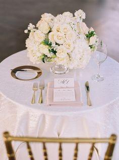 Elegant white table decor: http://www.stylemepretty.com/texas-weddings/dallas/2015/08/27/classic-southern-wedding-3/ | Photography: Sarah Kate - http://sarahkatephoto.com/