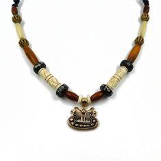 Halskette im Wikingerstil mit Wikingerschiff von BelanasSchatzkiste