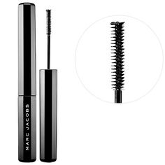 Shop Marc Jacobs Beauty's Feather Noir Ultra-Skinny Lash Discovering Mascara at Sephora. It features an ultra-skinny brush for dramatic lash looks. Blinc Mascara, Mascara Brush, 3d Fiber Lash Mascara, Best Mascara, Fiber Lashes, How To Apply Mascara, Volume Mascara, Applying Mascara, Mascaras