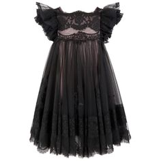 Must Have of the Day: Iconic Dolce & Gabbana black couture lace dress gown for little doll Little Dresses, Little Girl Dresses, Girls Dresses, Flower Girl Dresses, Outfits Niños, Kids Outfits, Baby Girl Fashion, Kids Fashion, Fashion Black