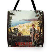 Vintage Italy Italian travel Varazze Riviera Tote Bag by Aapshop