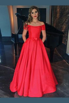 9563802a6626d Cheap Soft Prom Dresses With Sleeves, Red Prom Dresses, 2019 Prom Dresses,  A. Clavonna Dress