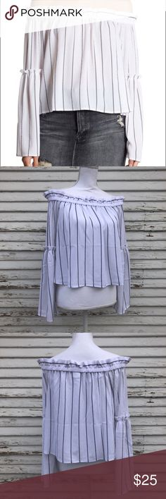 "Abound off the shoulder top NWT.  Medium:  chest: 40"" waist: 50"" length: 15"" XL: chest: 46"" waist: 55"" length: 17""Questions and offers welcome! Abound Tops Blouses"