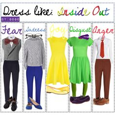 Inside Out Costume Ideas 20 Ideas On Pinterest Inside Out Costume Disney Costumes Disney Bound Outfits