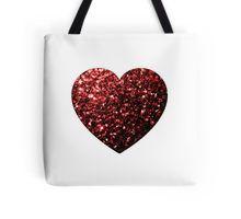 Glamour Red Glitter sparkles Heart Tote Bag by #PLdesign #sparkles #ValentinesDay #RedSparkles #SparklesGift