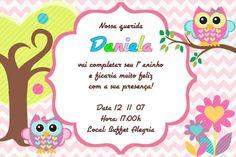 Convite digital personalizado Corujas 008