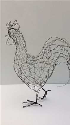 Three dimensional wire sculptures and beautiful garden art Chicken Wire Art, Chicken Wire Sculpture, Chicken Wire Crafts, Wire Art Sculpture, Abstract Sculpture, Wire Sculptures, Bronze Sculpture, Sculptures Sur Fil, Animal Sculptures