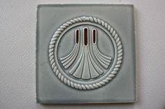 Jugendstil Fliese Keramik Art Kachel Platte