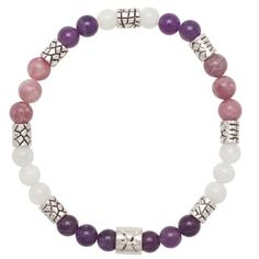 Healing Stones for You Pisces Zodiac Bracelet Size 7.5 (USA) | Overstock.com Shopping - The Best Deals on Crystal, Glass & Bead Bracelets