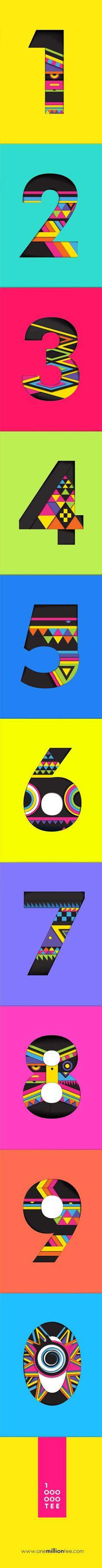 OneMillionTee.com Numbers Design: