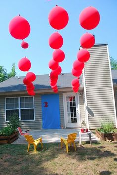 balloons hanging outside