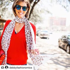 Thank you for featuring our Billion Stars Scarf. @debbyfashionomics.  I wish I had your sunshine.  Shop at our online store or @shoptootsies