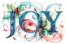 Paper Typography - Quilling