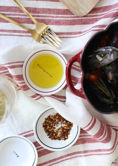 easy tuscan mussels