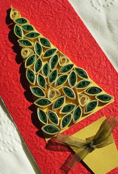 quilling christmas | Quilling Patterns For Beginners Quilling - Quilled Christmas Card ...