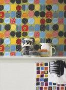 For the kitchen: wallpaper compotti by Marimekko # Scandinavian - FMkitchen. Marimekko, Kitchen Wallpaper, Kitchen Decor, Design Kitchen, Retro, Scandinavian Wallpaper, Home Decor, Google, Bold Colors