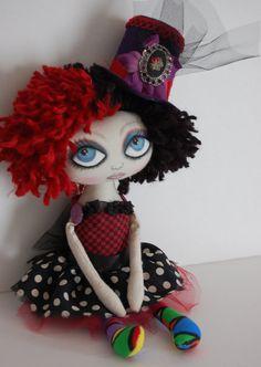 Gigi, Couture Circus Cloth Art Raggedy Doll