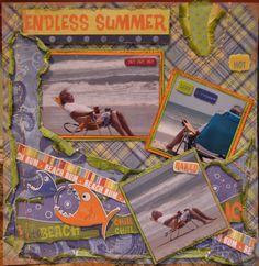 Endless summer at the beach scrapbook layout