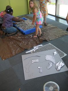 with kiddos @ the library: low budget-Dino Dig