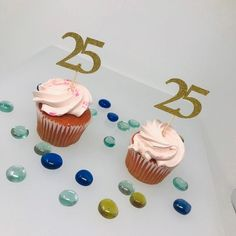 25th Birthday Cupcake Toppers, Birthday Decoration, 25th Birthday Decoration, Cupcake topper, 25 Anniversary, Class reunion, 25cupcake by RedPartyStore on Etsy Reunion Decorations, Birthday Decorations, 25th Birthday, Birthday Cupcakes, Graduation Cake Toppers, 25 Anniversary, Birthday Centerpieces, Graduation Pictures