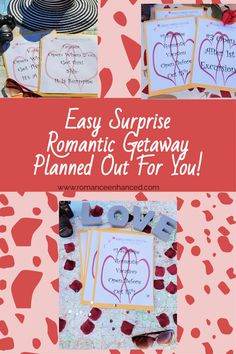 Surprise Your Spouse With A Effortless Romantic Getaway That Will Help You Reconnect Planned Out For You By A Romance Coach! #romanticgetaway #surpriseromatnicweekend #reconnect #romanticvacay #romanticgifts #easyromanticgetaway #getawayideas #romantichelp #easyromanticgetawayideas