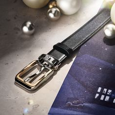 Rectangular Rounded Belt. For him. From you. With love, from Montblanc. Polished stainless steel buckle with bright gold PVD coating. #Montblanc #UnboxtheMagicOfCraft #Belt