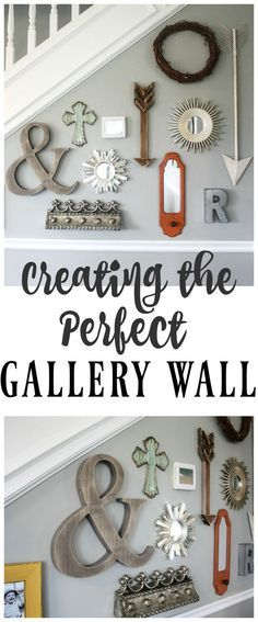Create the perfect gallery wall by using items you already have in your own home! Pull things together and have FUN creating a unique and fun wall that you can change up as often as you want! Gallery Wall, Farmhouse Decor, Decor, Diy Wall Decor, Perfect Gallery Wall, Trending Decor, Farmhouse Wall, Home Decor, Vases Decor