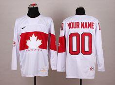 db3b5378d Team Canada 2014 Sochi Winter Olympic Custom White Jersey. NHL Hockey  Jerseys