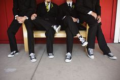 converse for the groomsmen? and for my wedding the entire wedding party will be wearing converse! including me :)