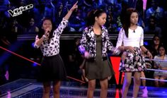 "Sassa Austria, Nikki Apolinar and Alexis Prieto from Team Bamboo performed their version of Wilson Phillips hit ""Hold On"" on The Voice Kids Philippines Season 2 'Battle Rounds,' August 2, 2015."