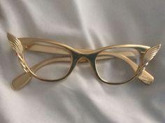 2fc8e6dc79 Vintage Cat Eye Glasses Gold By Tura Frame. Funky Glasses ...