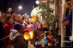 Sint Maarten 11 november, every kid in Holland makes a lantern and sings songs at a door, then gets treats.