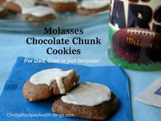 Molasses Chocolate Chunk Cookies - spicy molasses cookie studded with ...