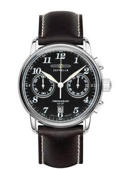Luxusní pánské hodinky z kolekce Graf Zeppelin s tradičním leteckým designem nabízí přehledný a zpracovaný ciferník, který zaujme na prvn