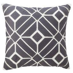 "Nate Berkus™ Geometric Toss Pillow - Gray (18x18"") / $24.99"