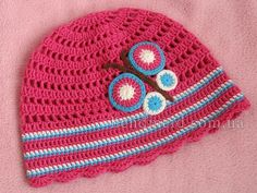 Весенняя шапочка для девочки «Бабочка»