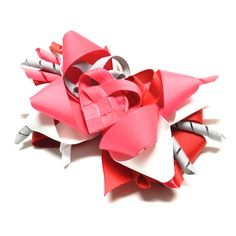 Multi-Layered Stacked Boutique Bowdabra Hair Bow- perfect for Valentine's Day